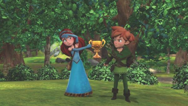 Der Pokal ist verhext. Ob Marian damit was zu tun hat? | Rechte: ZDF/Method Animation/DQ Entertainment