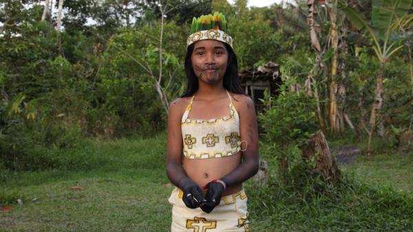 Jessica ist stolz darauf, eine Indigene zu sein. | Rechte: RBB/Alexander Preuss