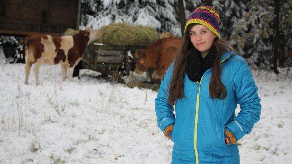 Antonia lebt auf einem Bauernhof in Sachsen.  | Rechte: MDR/Farbfilmer