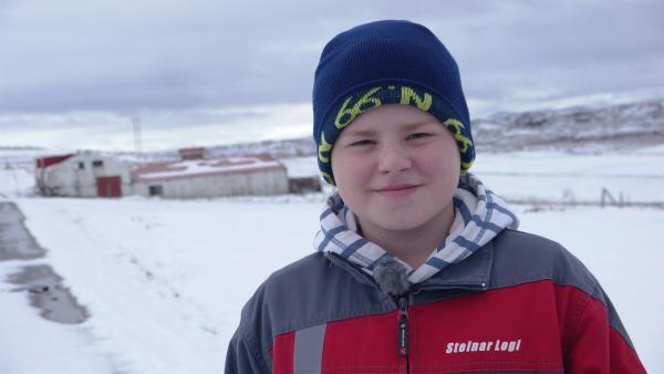 Steinar, 12 Jahre alt, lebt im Nordosten von Island auf einer Farm. Die Winter sind kalt und lang dort. | Rechte: MDR/Klaus Tümmler