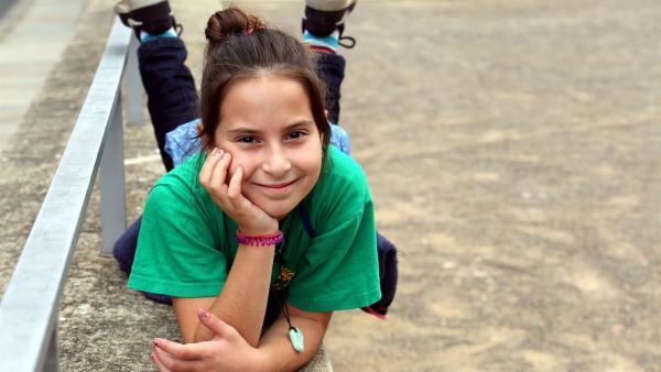 Leah ist zehn Jahre alt. Sie spricht deutsch, italienisch und lernt gerade hebräisch. | Rechte: MDR