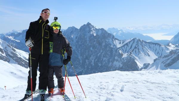 Beni und sein Vater auf der Piste   Rechte: rbb/Juliette Planitzer