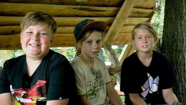 Paul, Juli und Janko (v.l.n.r.) sind beste Freunde. | Rechte: rbb/Klaus Tümmler
