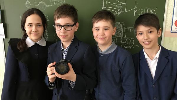 Die vier YouTuber Gusel, Roman, Azat und Almaz (v.l.n.r) | Rechte: KiKA