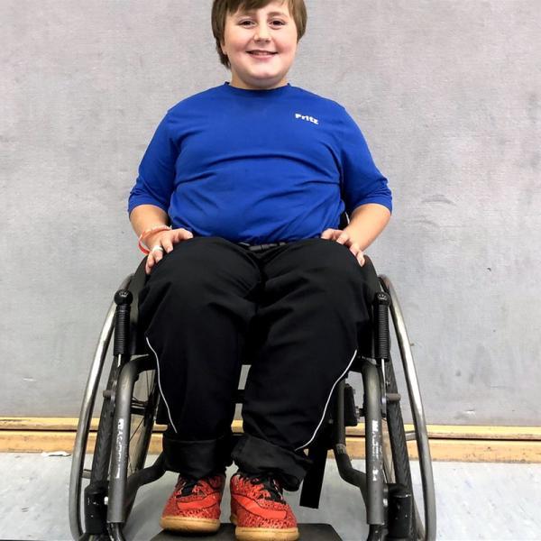 Fritz beim Rollstuhlfußball | Rechte: © HR