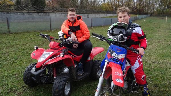 Nevio und Matteo beim Motocross | Rechte: rbb/Preuss Filmproduktion Berlin