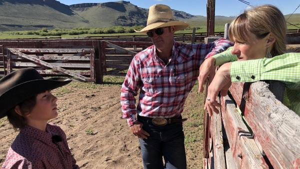 Marcus auf der Ranch mit Domingo und Ruby.  | Rechte: hr