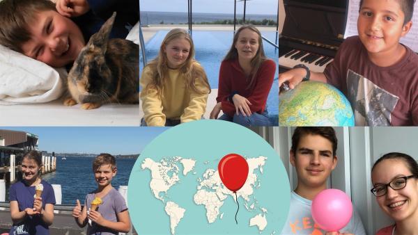 Kinder und Jugendliche aus der ganzen Welt zeigen mit ihrem Smartphone, wie die Corona-Krise ihren Alltag verändert und mit welchen Dingen sie sich die Zeit vertreiben. | Rechte: rbb/RB/nordisch Filmproduction Anderson & Team GmbH