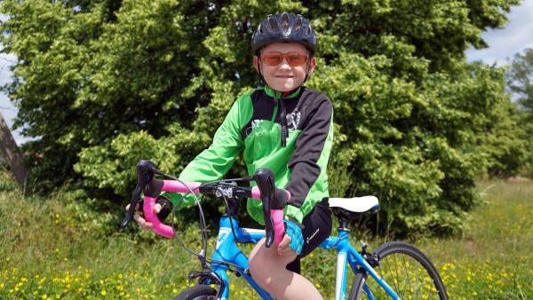 Jason ist begeisterter Rennradfahrer. Ein Leben ohne Radsport kann sich Jason nicht vorstellen. | Rechte: MDR/Andrea Gentsch