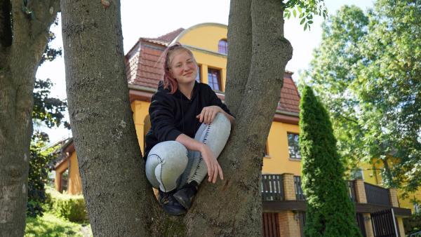 Da es zu Hause Schwierigkeiten gab, lebt Stacy jetzt in der Kinder-WG. | Rechte: MDR/Andrea Gentsch