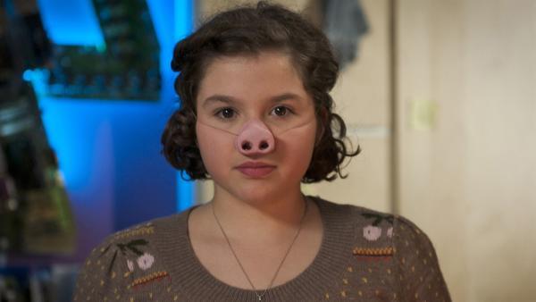 Pippi (Marie Borchardt) wehrt sich gegen die Mobbingatacke. | Rechte: MDR/Anke Neugebauer