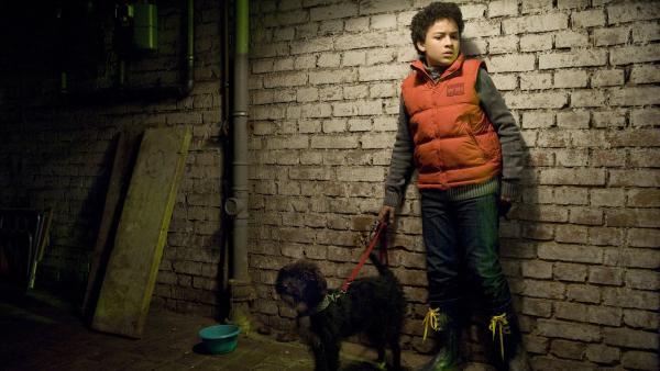 Um bei Daphne zu punkten, rettet Raphael (Oskar-Kraska Mc Kone) einen Hund. | Rechte: MDR/Katharina Simmet