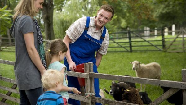 Tobias (Stefan Wiegand) geht es bei seiner Arbeit im Zoo endlich wieder richtig gut. | Rechte: MDR/Katharina Simmet