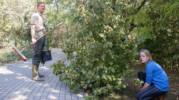 Martha (Luna Kuse) versteckt sich im Zoo, nachdem dieser schon geschlossen hat.    Rechte: MDR/Saxonia Media/Paul-Ruben Mundthal