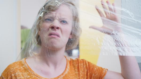 Diesen Streich findet Martha (Luna Kuse) gar nicht lustig. | Rechte: MDR/Saxonia Media/Felix Abraham