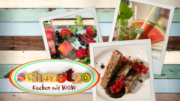 Schmatzo-Logo mit Polaroids von leckeren Gerichten aus der Sendung | Rechte: KiKA/ ORF/ ZDF