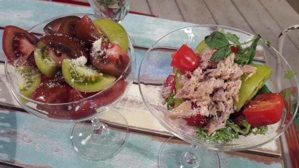 Tomatensalate in verschiedenen Varianten | Rechte: ZDF/ORF