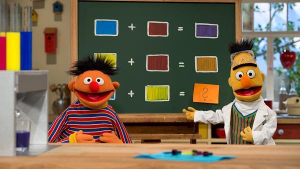 Ernie & Bert machen physikalische Experimente | Rechte: NDR