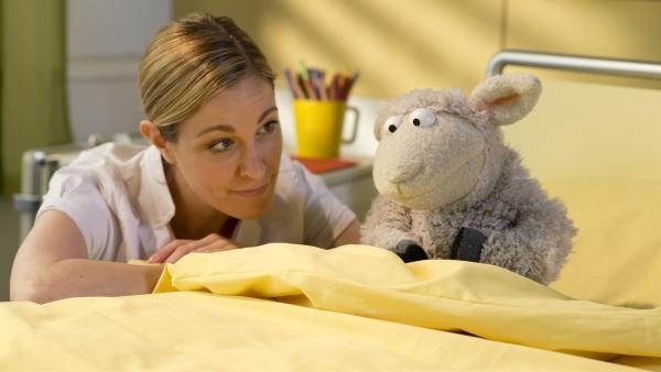 Wolle muss operiert werden. Er hat ziemlich große Angst. | Rechte: NDR/Sesame Workshop