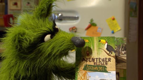 Der Wolf plant eine Abenteuerreise nach Südamerika. | Rechte: NDR/Sesame Workshop