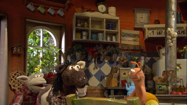 Finchen ist genervt, weil ihre Freunde ihren Termin vergessen haben. | Rechte: NDR/Sesame Workshop