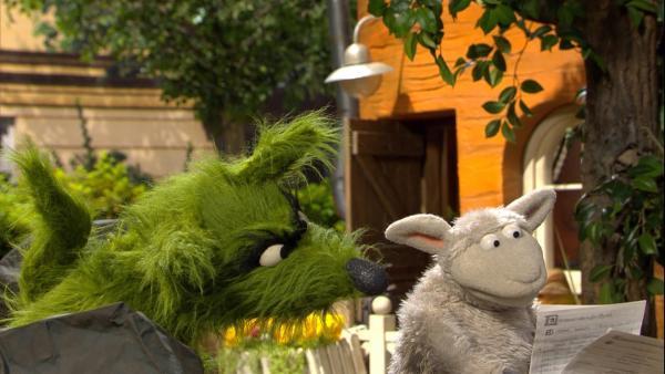 Wolle hat ein Drehbuch für einen Weltraumfilm geschrieben. | Rechte: NDR/Sesame Workshop