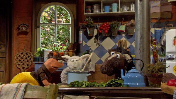 Folge 147: Finchen versucht Pferd mit einem speziellen Kräutertrank zu helfen. | Rechte: NDR/Sesame Workshop