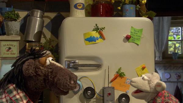 Wolle hat eine Alarmanlage gebaut | Rechte: NDR/Sesame Workshop Foto: Screenshot