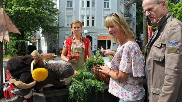 Pferd auf dem Wochenmarkt | Rechte: NDR / Uwe Ernst