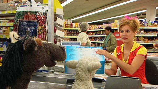 Pferd und Wolle im Supermarkt | Rechte: NDR / Uwe Ernst