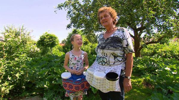 Olivia und ihre Oma ernten Obst für ihre Marmeladen. | Rechte: NDR/Thorsten Jander
