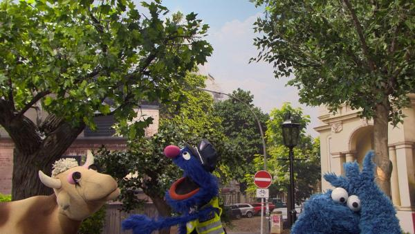 Grobi erklärt den Beruf des Verkehrspolizisten. | Rechte: NDR