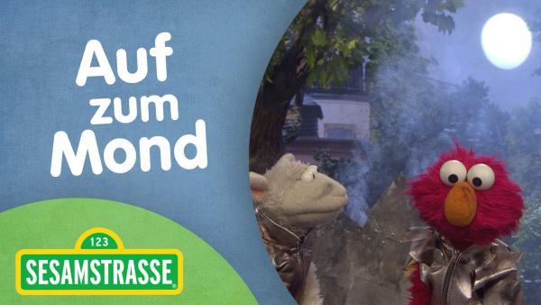 Wolle (links) und Elmo (rechts) schauen durch die runden Fenster ihrer Rakete nach draußen. | Rechte: NDR Foto: NDR