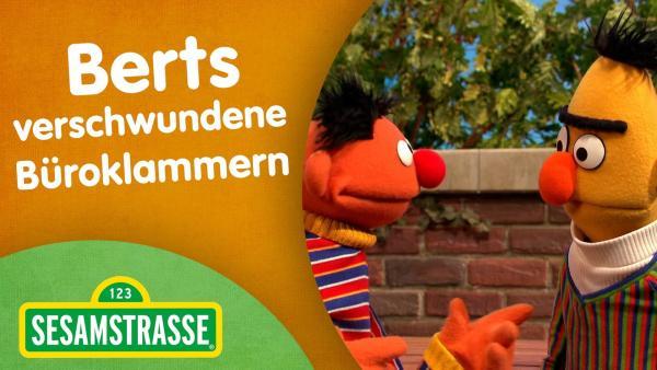 Folge 2885. Berts verschwundene Büroklammern - Thumbnail mit Ernie und Bert | Rechte: NDR