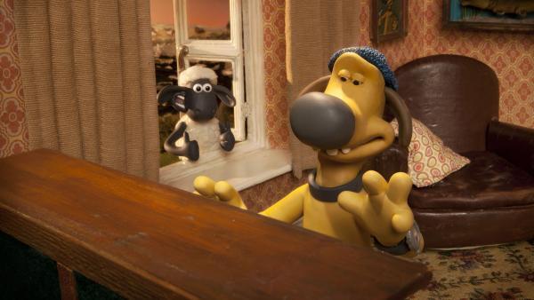 Shaun ist begeistert: Bitzer entpuppt sich als begnadeter Pianist. | Rechte: WDR/Aardman Animation Ltd./BBC