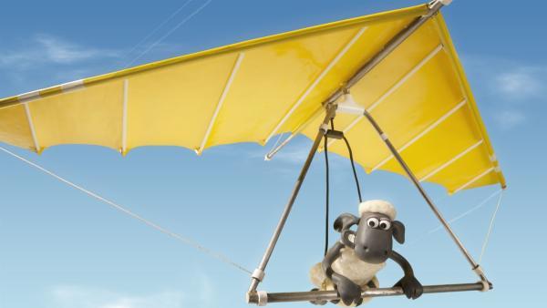Ob das gut geht? Shaun hat ein neues Verkehrsmittel. | Rechte: WDR/Aardman Animation Ltd./BBC