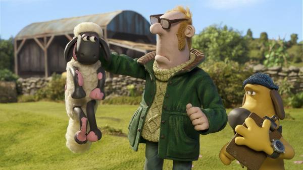 Das gibt Ärger: Shaun hat in der Küche des Farmers genascht.   Rechte: WDR/Aardman Animation Ltd./BBC