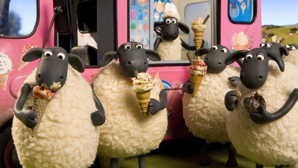 Eis für alle: Shauns Eiskunstwerke machen einfach glücklich.   Rechte: WDR/Aardman Animation Ltd./BBC