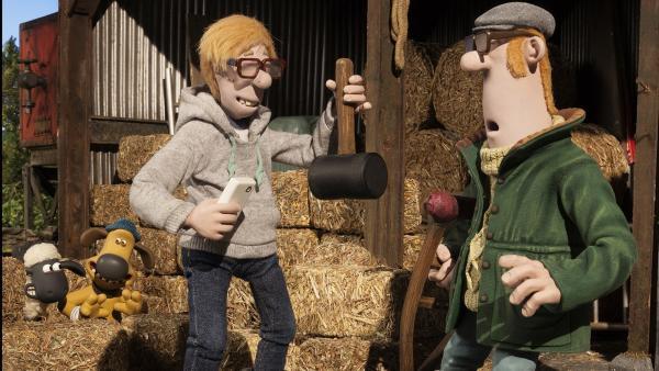 So hat sich der Farmer die Unterstützung durch den Farm-Helfer nicht vorgestellt. | Rechte: WDR/Aardman Animations Ltd.