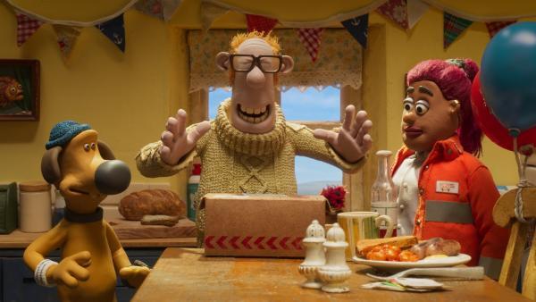 Zum Geburtstag seines Herrchens hat sich Bitzer eine besondere Überraschung ausgedacht. | Rechte: WDR/BBC/Animation Ltd.