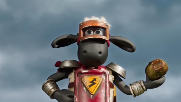Achtung, dieser Superheld wirft mit faulen Äpfeln! | Rechte: WDR/BBC/Animation Ltd.