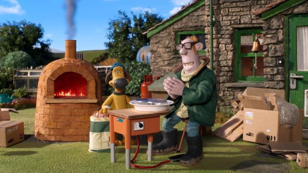 Öfter mal ein neues Hobby: Der Farmer will töpfern lernen.   Rechte: WDR/BBC/Animation Ltd