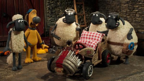 Macht die neue Seifenkiste Bitzer zum Gewinner? | Rechte: WDR/BBC/Animation Ltd