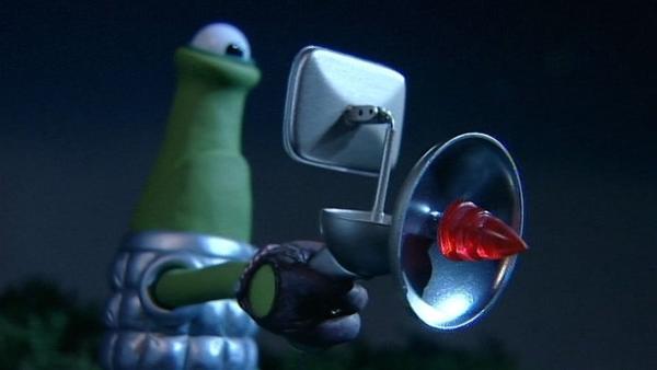 Komische Wesen mit komischen Geräten sind gelandet und bedrohen die Schafe. | Rechte: WDR/Aardman Animation Ltd./BBC