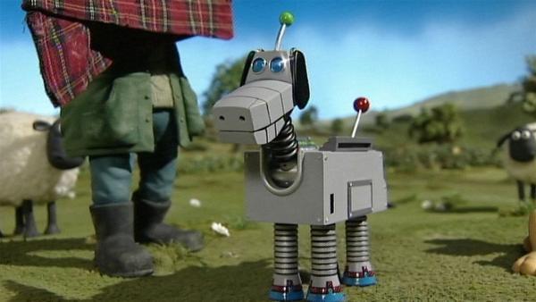 Was ist das für eine komische Maschine? Macht die Hundemaschine Bitzer überflüssig?   Rechte: WDR/Aardman Animation Ltd./BBC