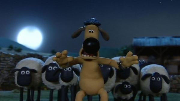 Alarm um Mitternacht! Furchtlos stellt sich Bitzer vor die Schafe. | Rechte: WDR/Aardman Animation Ltd./BBC