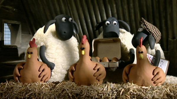 Alle Schafe kümmern sich um die Arbeiten auf der Farm und versorgen die anderen Tiere. | Rechte: WDR/Aardman Animation Ltd./BBC