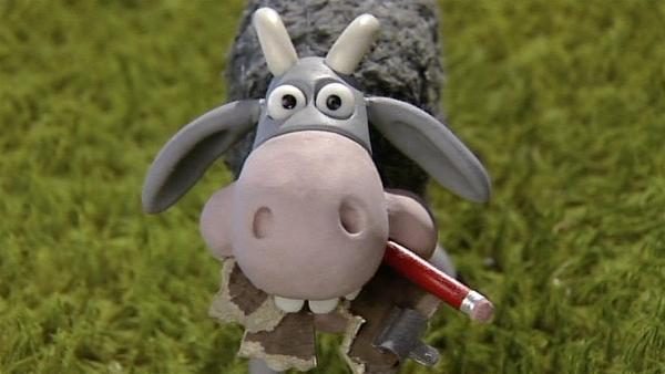 Vor dem neuen Farmbewohner ist nichts sicher. Der frisst einfach alles! | Rechte: WDR/Aardman Animation Ltd./BBC
