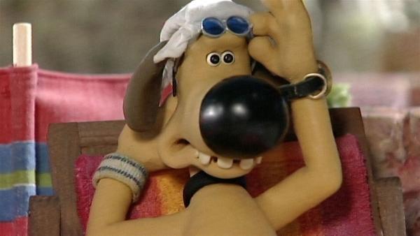 Ein Schläfchen in der Hitze, so möchte Bitzer den Tag verbringen, aber irgendetwas Seltsames geht hier vor. | Rechte: WDR/Aardman Animation Ltd./BBC