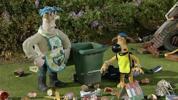 Chaos auf der Farm. Da hilft nur: Aufräumen! | Rechte: WDR/Aardman Animation Ltd./BBC
